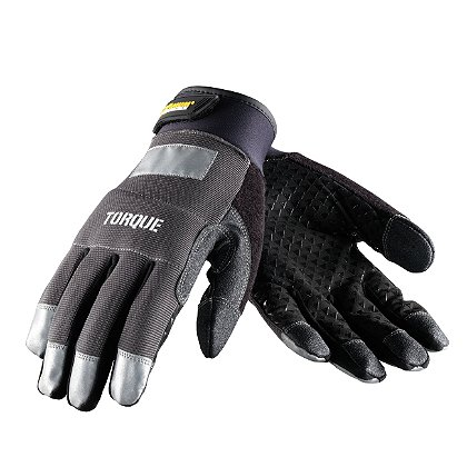 PIP Maximum Safety, Torque, Professional Workman's Glove, Black Synthetic Leather with Silicon Reinforced Palm