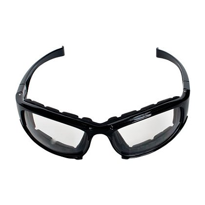 PIP Bouton Cefiro Eyewear/Dust Goggle, Polycarbonate Lens, Anti-Scratch & Anti-Fog Black Full Frame with Foam Padding