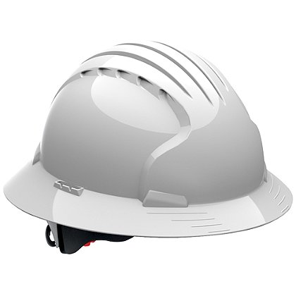 PIP Evolution Deluxe 6161 Hard Hat, 6-Point Poly Textile Suspension, Wheel Ratchet Adjustment, Vented, ANSI