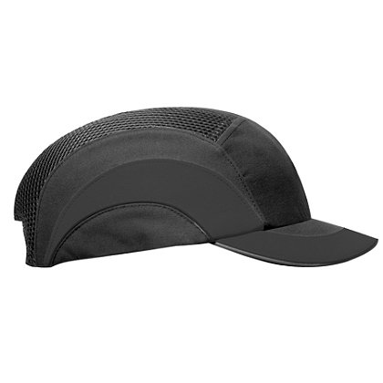PIP Hardcap A1+ Bump Cap, Black/Black, Low-Profile Baseball Style, Short 2