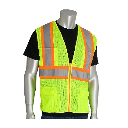 PIP ANSI Class 2, Surveyor's Mesh Vest w/ Back Pocket