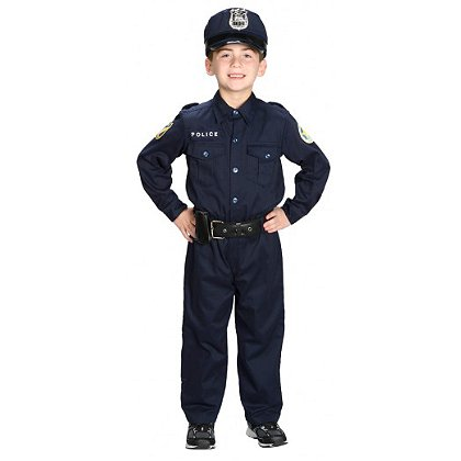 AeroMax Jr. Police 1 Piece Uniform Costume