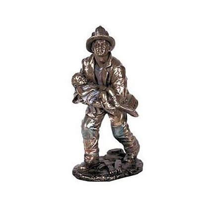 Firefighter And Child Rescue Statue
