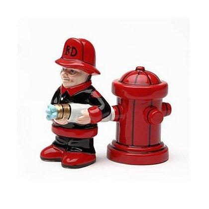 Firefighter & Hydrant Salt & Pepper Shaker