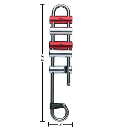 Petzl Rack Standard Descender, 5-Bar Rappel Rack