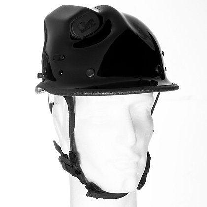 Pacific R5 Rope Rescue/Extrication Helmet w/Torch Pod, Black