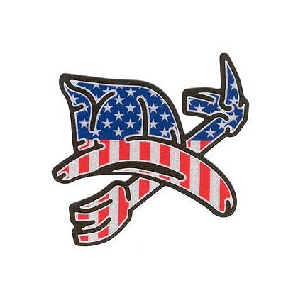 3DECAL Helmet & Halligan Reflective Decal, USA Print