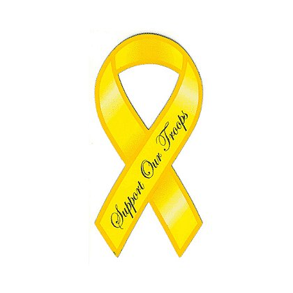 Exclusive  Support Our Troops Ribbon Reflective Decal