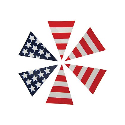 6-Part Reflective USA Flag Decals