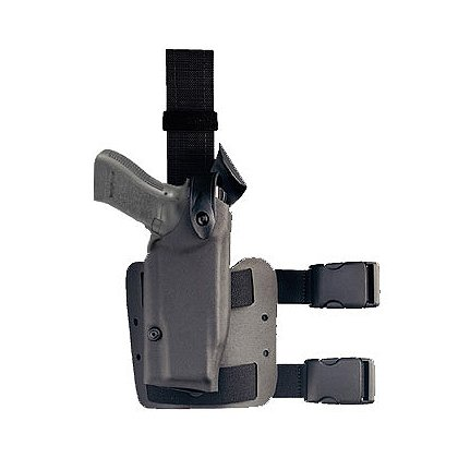 Safariland Model 6004 Tactical Holster, Tactical Black, Hood Guard