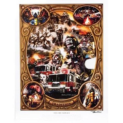 The Fire Service Print