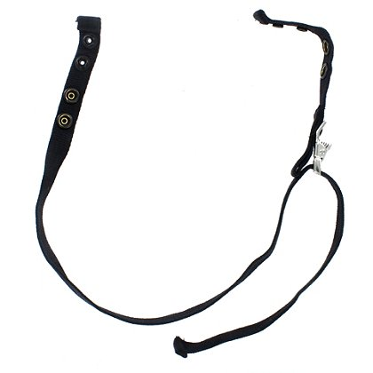 San Franciscan Chinstrap, Black Nomex With Dual Brass Snaps (Original NY'er Style)