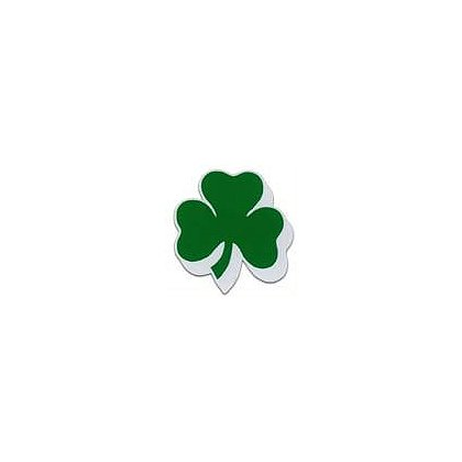 3Decals Shamrock Shadowed Reflective Decal, Green on White