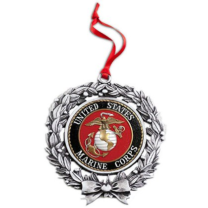 Son Sales, Inc. US Marine Corps Sublimated Wreath Ornament