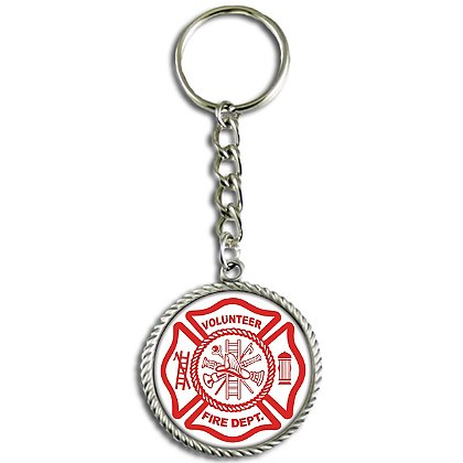 Son Sales, Inc. Volunteer Fire Department Sublimated Key Ring