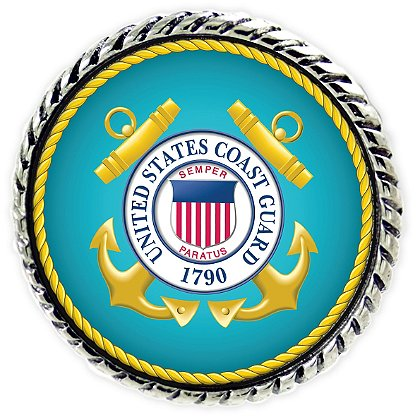Son Sales Sublimated Coast Guard Lapel Pin
