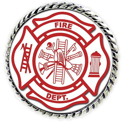 Son Sales Sublimated Fire Department Lapel Pin