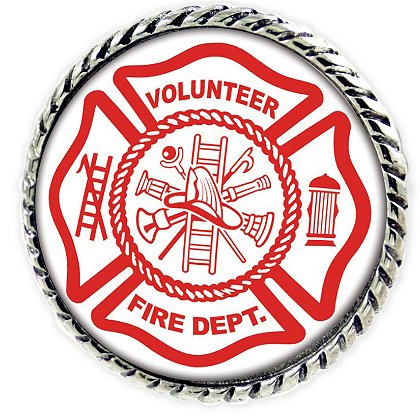 Son Sales Sublimated Volunteer Fire Department Lapel Pin