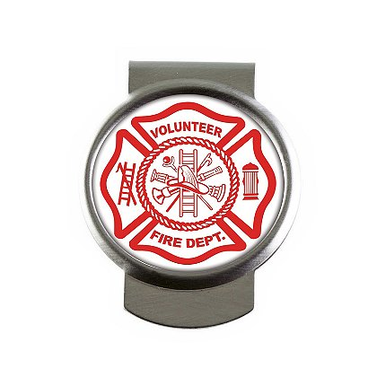 Son Sales, Inc. US Volunteer Fire Sublimated Money Clip