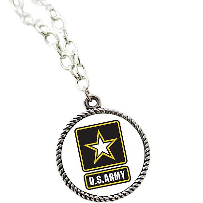necklace with shipping army s inscription psalm free logo pendant products stainless tag u dog steel