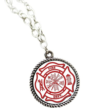 Son Sales Sublimated Fire Department Pendant and 18