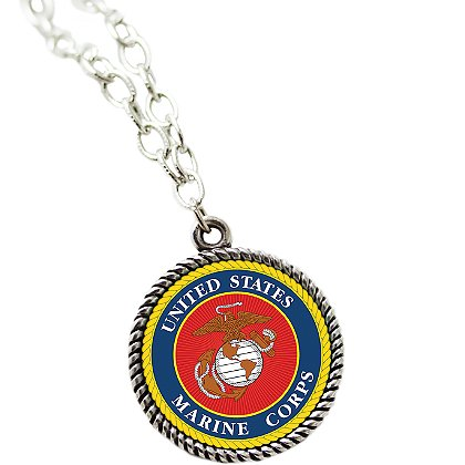 Son Sales Sublimated Marine Corps Pendant and 18