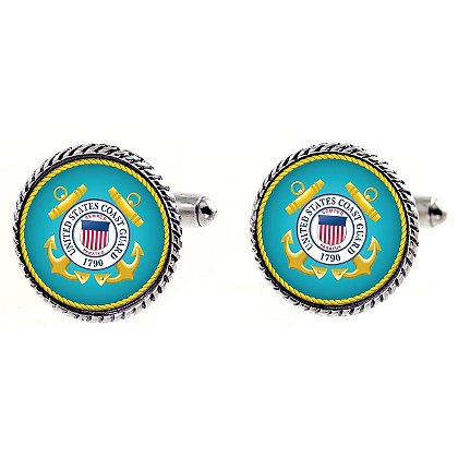 Son Sales Sublimated US Coast Guard Cuff Links