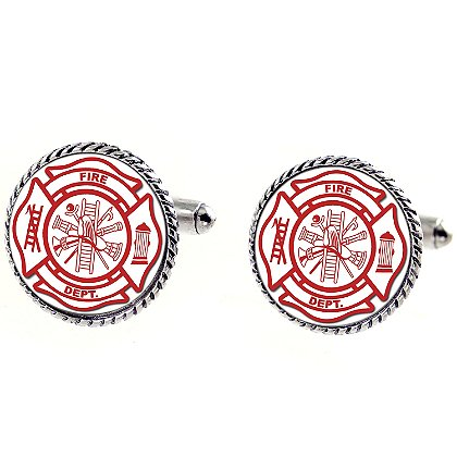 Son Sales Sublimated Fire Department Cuff Links