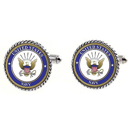 Son Sales Sublimated US Navy Cuff Links