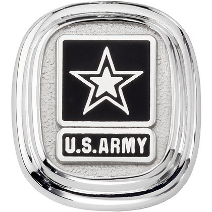 Son Sales Army Classic Tie Tac, Sterling Silver with Polymer Service Branch Insignia, Dual Clutches