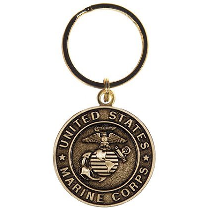 Marine Corps Classic Bronze Key Ring w/ Antique Finish
