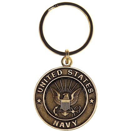 Son Sales Navy Classic Key Ring Bronze Key Ring 1.5