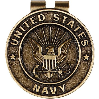 Navy Classic Bronze Money Clip w/ Antique Finish