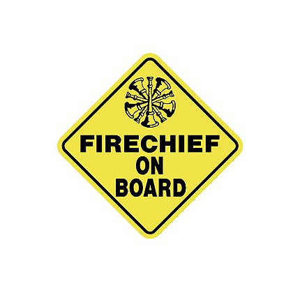 Exclusive Fire Chief on Board Decal