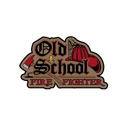 Exclusive Old School Firefighter Decal