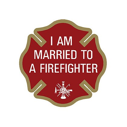 Exclusive Maltese Cross I AM MARRIED TO A FIREFIGHTER, 4