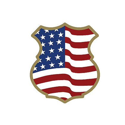 Exclusive Stars and Stripes Badge Decal