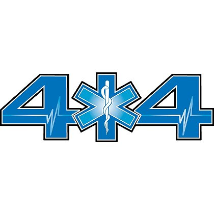 Decal 4 X 4 Truck Light Blue SOL,  4