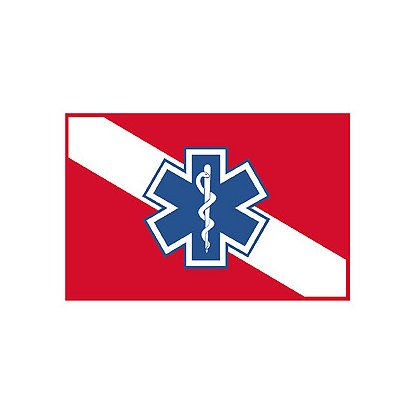TheFireStore Exclusive Dive Flag with Star of Life Decal