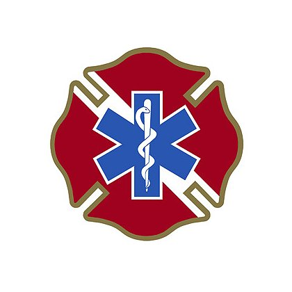 TheFireStore Dive-Maltese Cross with Star of Life, 2