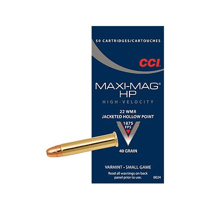 CCI Box of 50 ..22 Mag, 40 grain, Maxi-Mag Ammunition