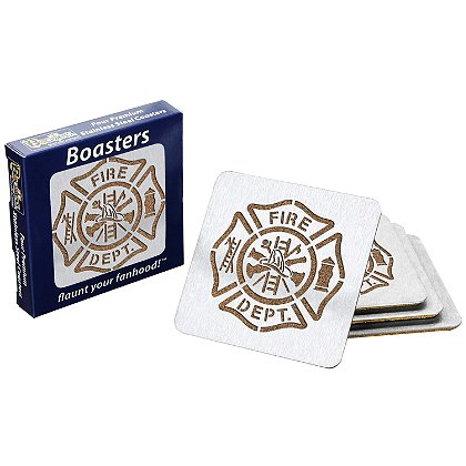 Sportula Maltese Cross Boasters (Coasters) – Stainless Steel & Cork