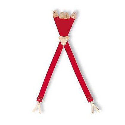 Lion S-T-R-E-T-C-H Four-Way Red Suspenders
