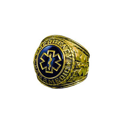 TheFireStore Exclusive 18K GP Men's Emergency Paramedic Ring