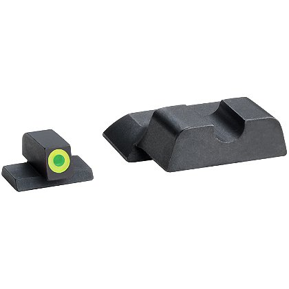 AmeriGlo Smith & Wesson M&P Tritium Protector Sight Set fits M&P Shield Models with LumiLime Outlined Front
