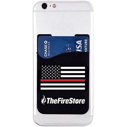 Exclusive TheFireStore Branded Thin Red Line Flag Phone Card Holder
