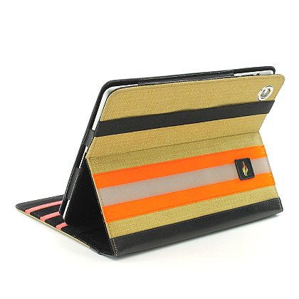 TheFireStore iPad Case, Tan PBI Turnout Gear, Orange Triple Trim