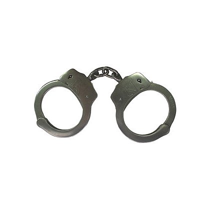 Triple K Double Lock Nickel Plated Handcuffs, Two Keys