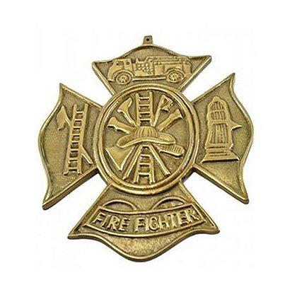 Firefighter Maltese Cross Scramble Plaque