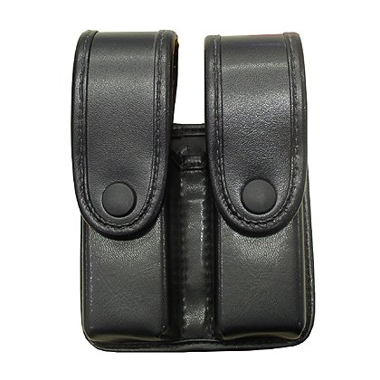 Uncle Mike's Divided Dual Mag Case, Snap Closure, Double Row